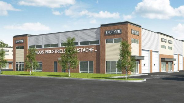 Projet condo industriel Perspective bâtiment